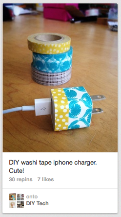 DIY washi tape phone charger