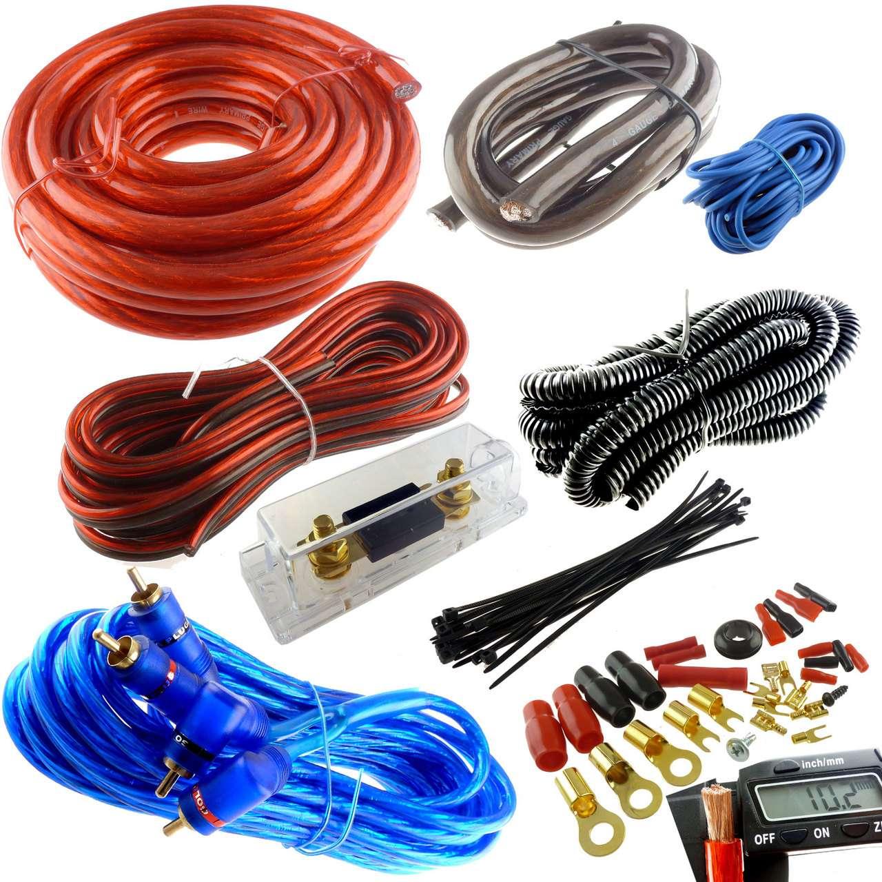 4 Gauge Premium Power Wire Wiring Kit 3000w Anl Install
