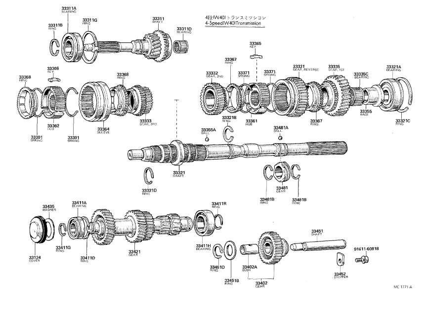 Old Celica Transmissions Diagrams  T40  T50  W40  W50  U0026 P51